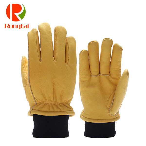 Premium garde driving men gloves winter with warm flannel lining