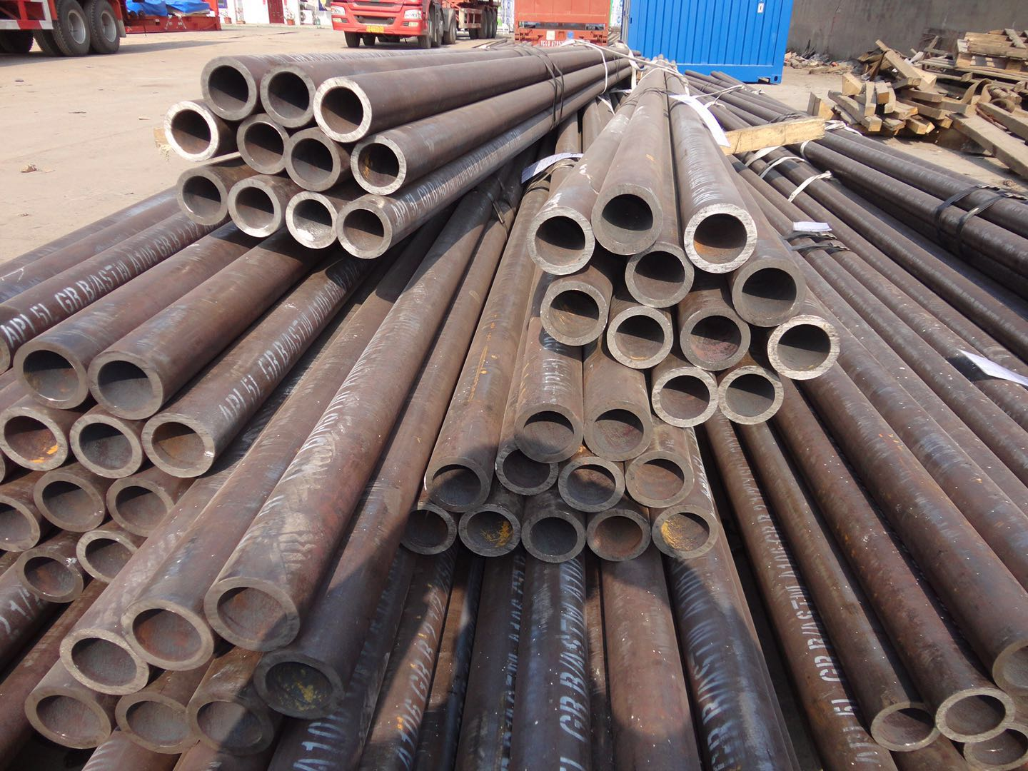 MS Steel Pipe With No Heat Treatment A53/A106/1020.