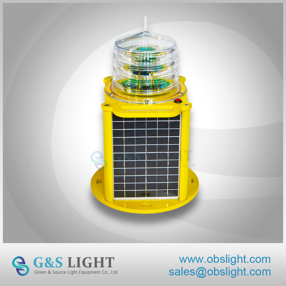 256 Light Characteristics Solar Beacon Light / LED Marine Lantern Sea Buoy Light