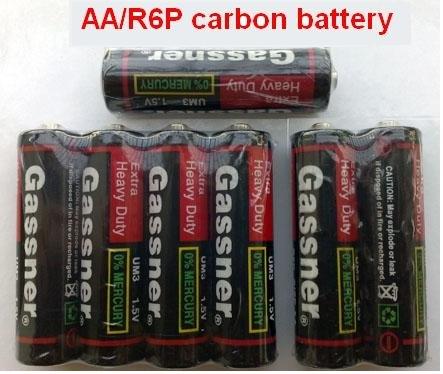1.5v AA R6P UM3 Super heavy duty Carbon-zinc Batteries