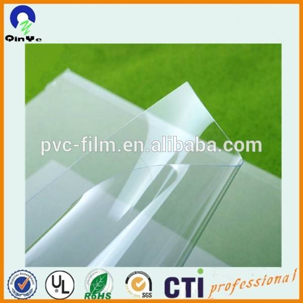 Transparent pvc rigid sheet for packing or printing
