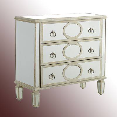 Mirror Chest With 3 Drawers