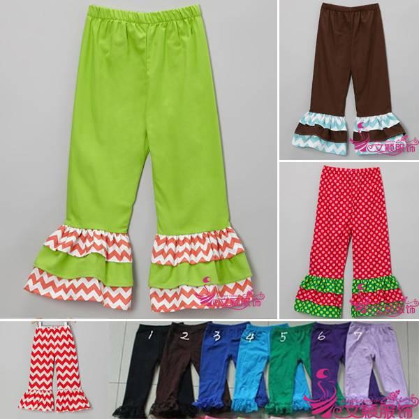 Hot sale Polka dot Baby Pants,Girls Ruffle Pants,child pants