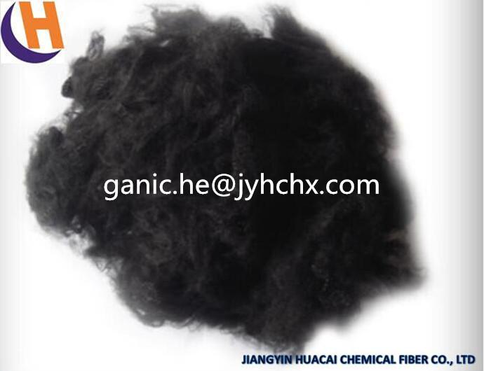 Black Recycled Polyester Staple Fiber