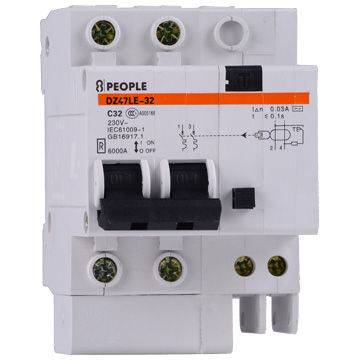 RCBO Residual Current Circuit Breaker with Overload Protection Rated Current Up to 32A