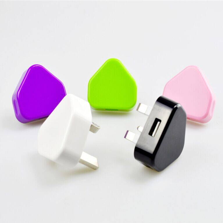 Travel USB Wall Charger UK 3Pin For iPhone CE RoHs approved