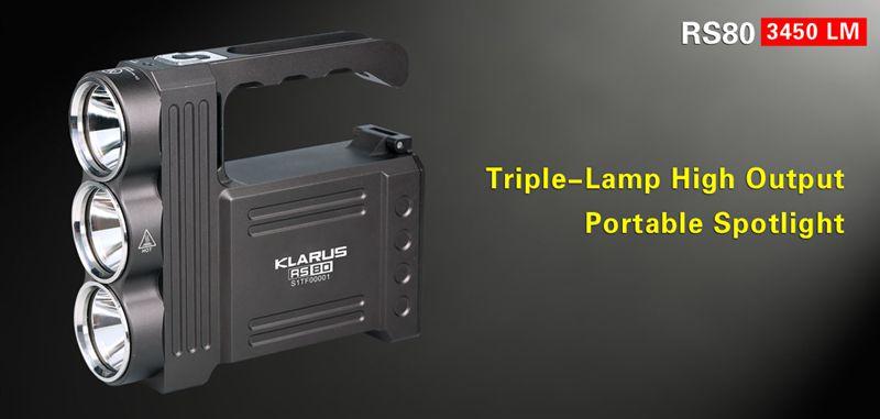 Protable Spotlight-Klarus RS80
