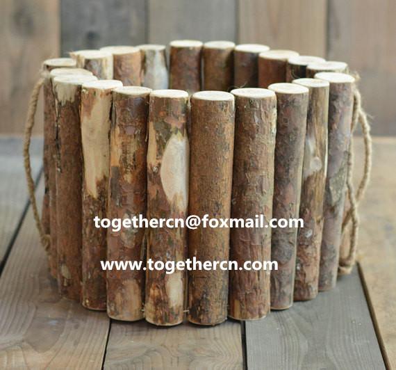 newborn baby photo props wooden chip basket