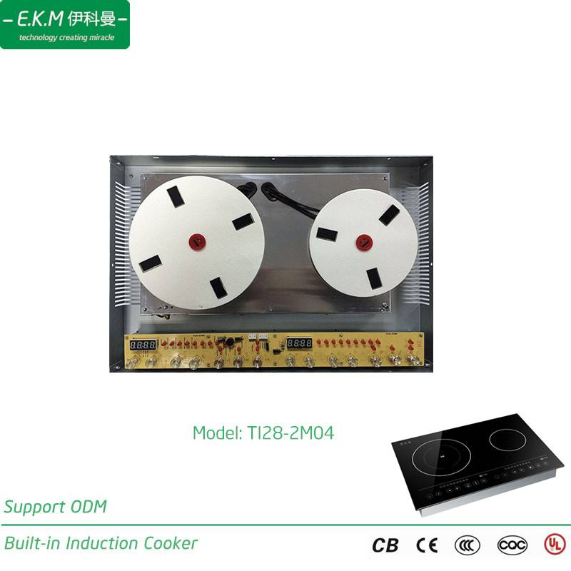 E. K. M Built-in Double Burner Induction Cooker, 2800W, Can Use 5 Years (TI28-2M04)