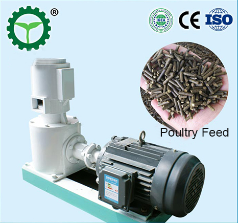 Animal feed flat die pellet machine
