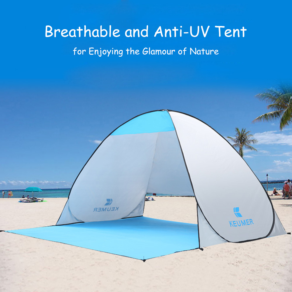 Automatic Camping Tent 2 Persons Tent Instant Pop Up Open Anti UV Awning Ten