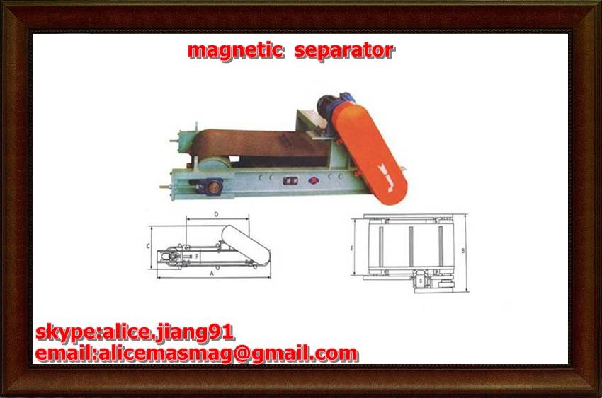 RCYQ series  Light-duty Crossblet Magnetic Separator  for  iron ore