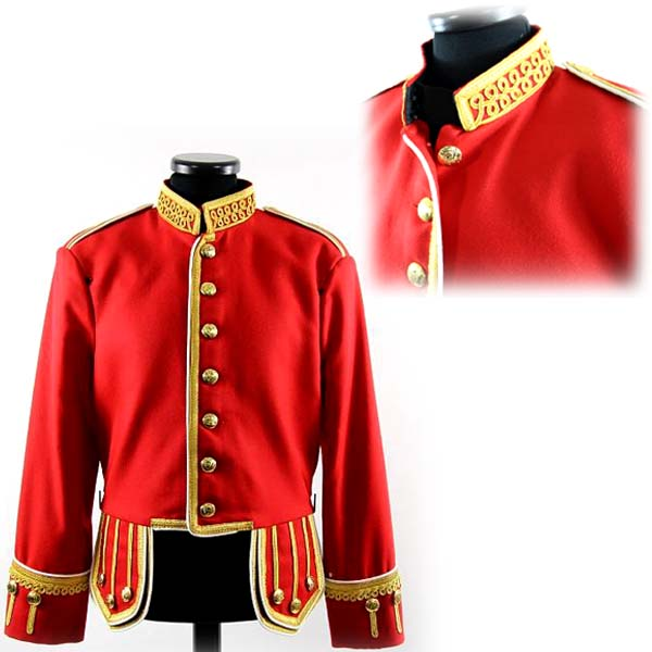 Military Doublet Jacket Red Color