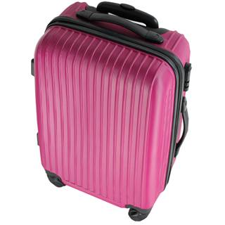 Pink ABS zipper luggage bag,trolley case,trolley bag