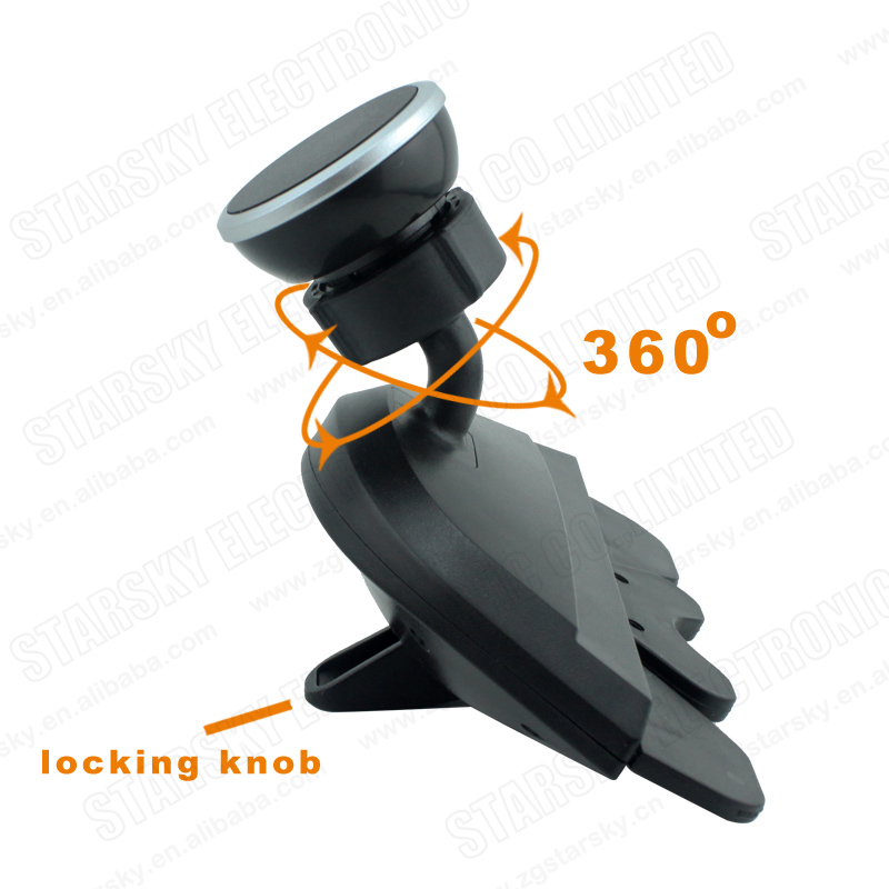 360 Degree Rotation Magnetic Mount Hold for Phone in Car CD Slot