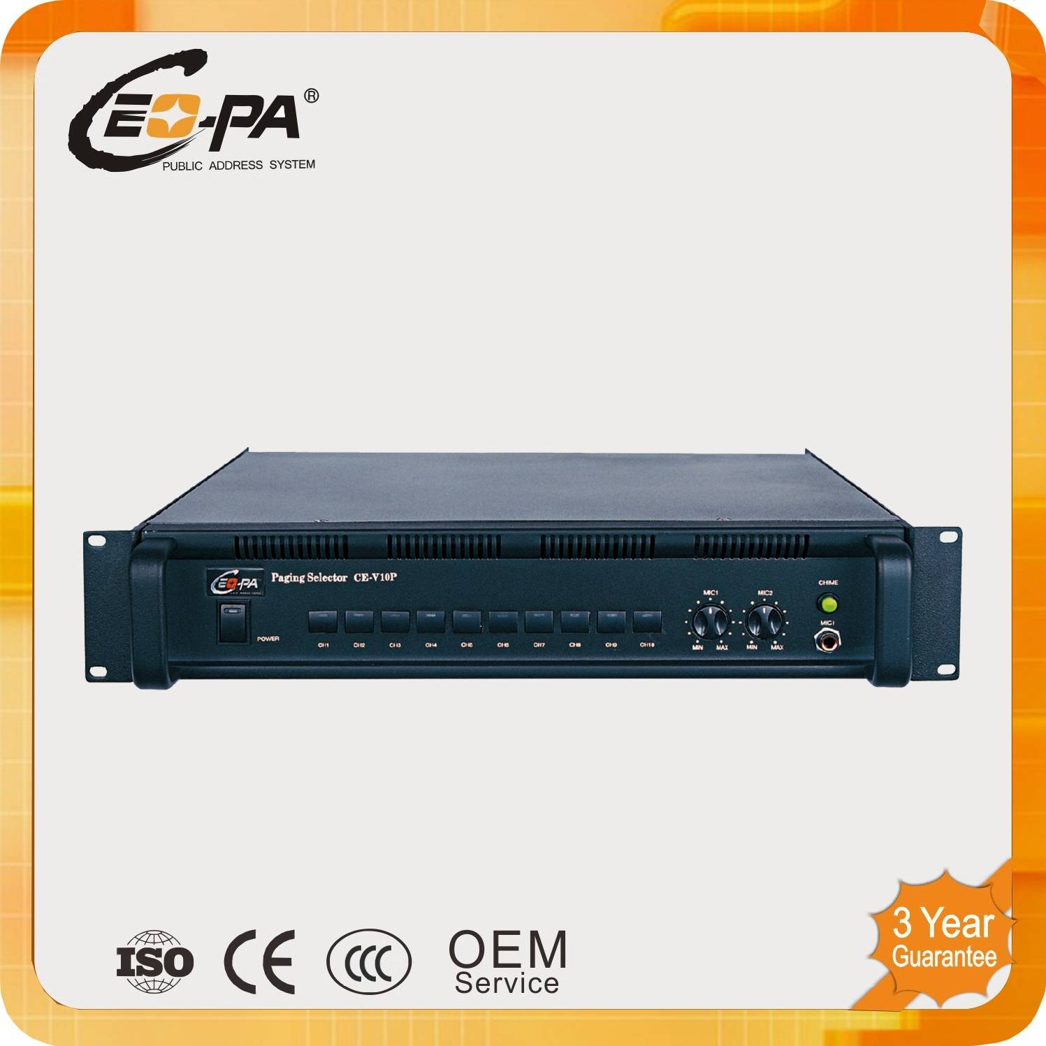 PA System 10 Zone Paging Selector