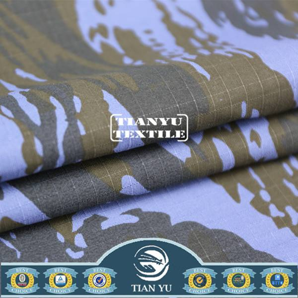 Polyester Cotton Camouflage Fabric for Army Hunting Uniform