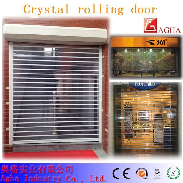 transparent rolling door, fast door, clear pvc door, crystal door