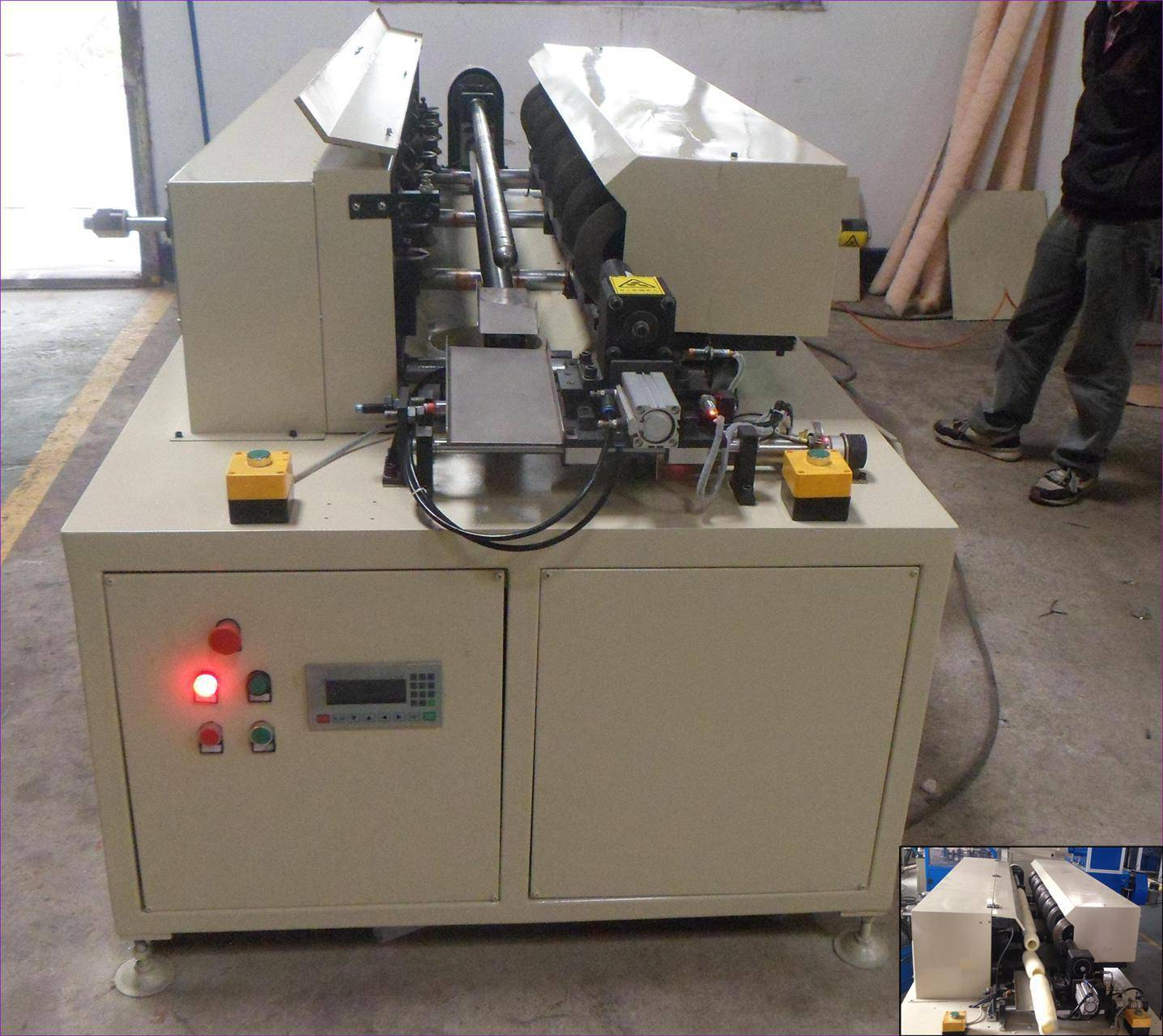 Multi-head Cutting and Bevelling Machine for Big Paint Roller (TB-QGJ-02)