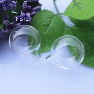 Hand Blown Globe Clear Hollow Jewelry Round Crystal Glass Ball Bottles Jewelry Covers Spheres Neckla