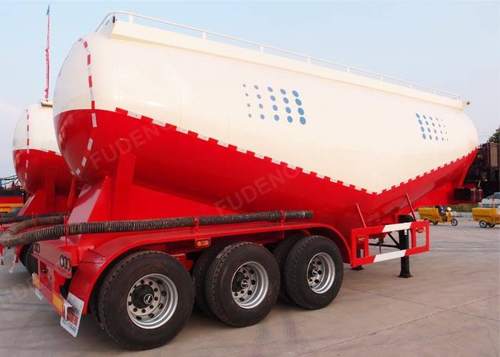 Fudeng brand 30 m3 - 80 m3 dry cement tanker semi trailer bulk powder cement trailers for sale