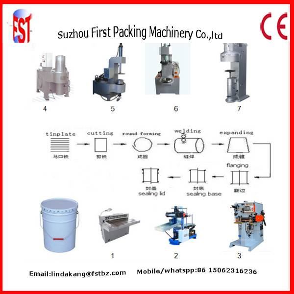10-20L Conical pail can making machine equipment