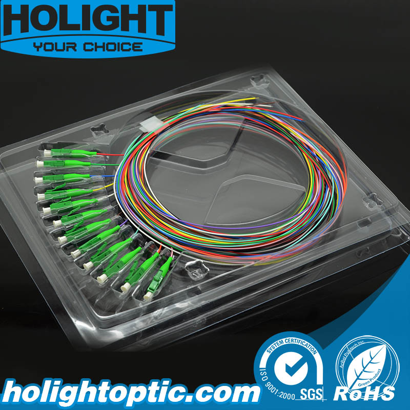 12 Colors LC APC Fiber Optic Pigtail Singlemode 0.9mm