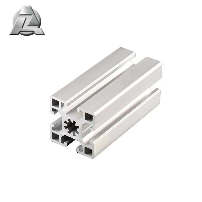 customized silver anodized aluminum extrusion t slot profile