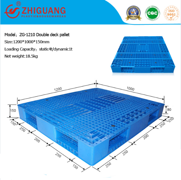 Grid Double Sides Heavy Deck Rackable Plastic Pallet (ZG-1210)