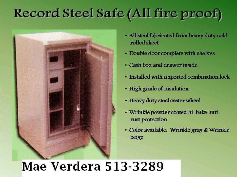 Record Safe Cabinet all fire proof
