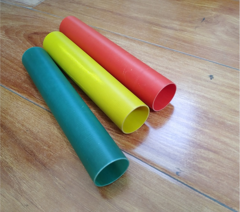 colorful high temperature glass fiber tube insulated fiberglass pipe for thermo electric plant