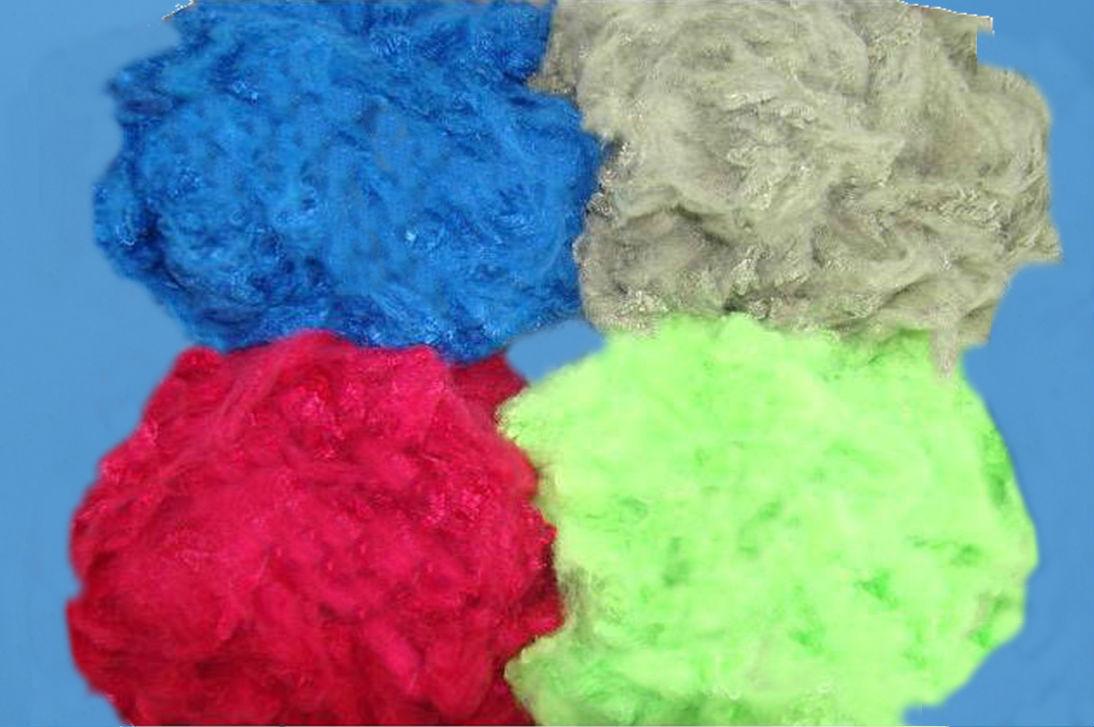Colored polyester staple fiber