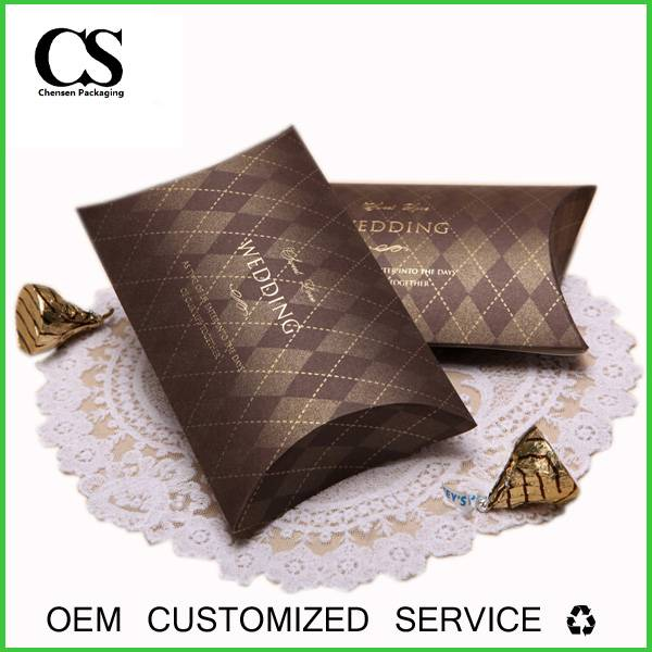 Custom Logo Print Hair Extensions Paper Package Pillow Box