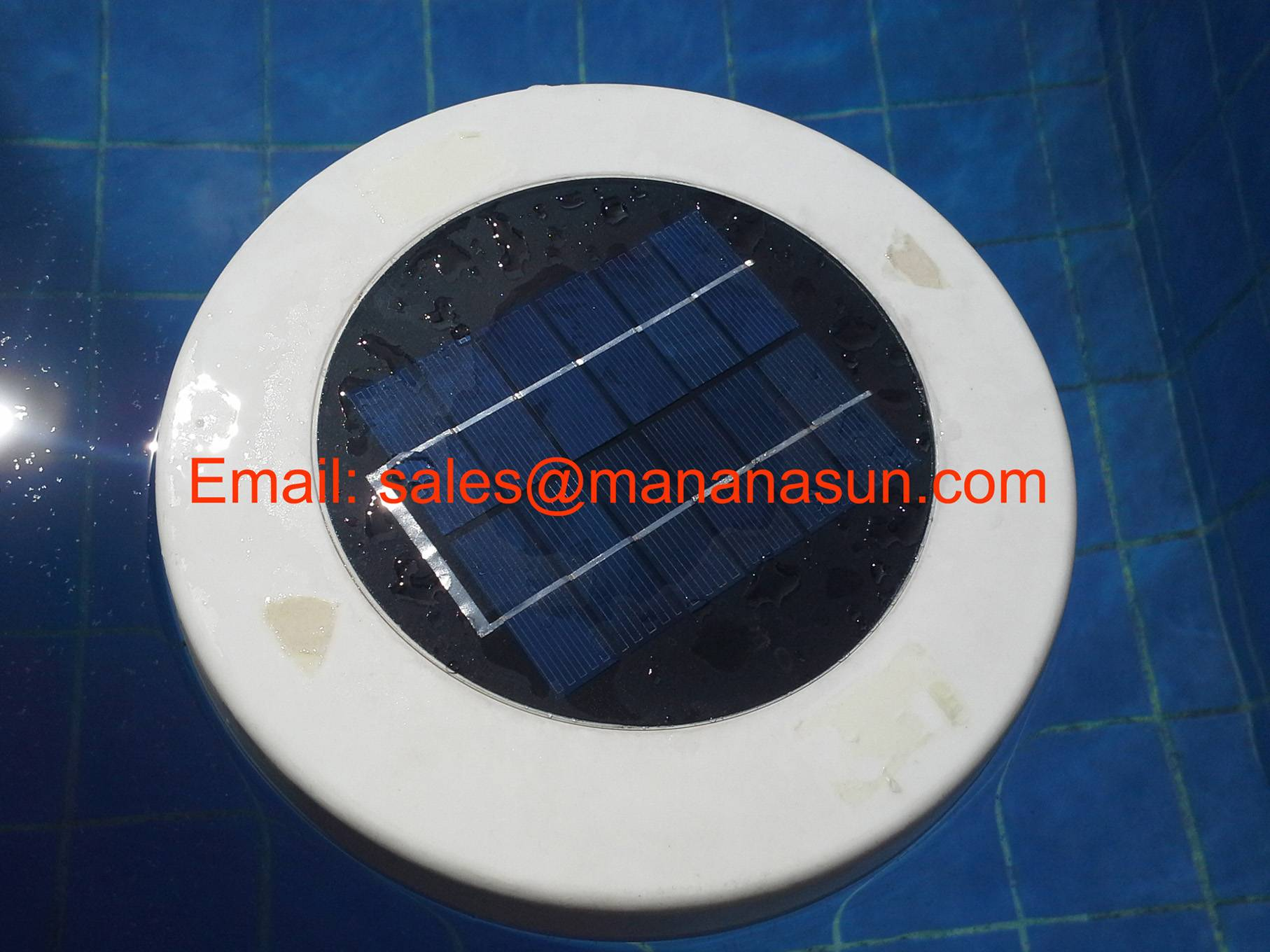 Solar Pool Ionizer Apply to Fish Pond, Water Fountain, Setting Basin