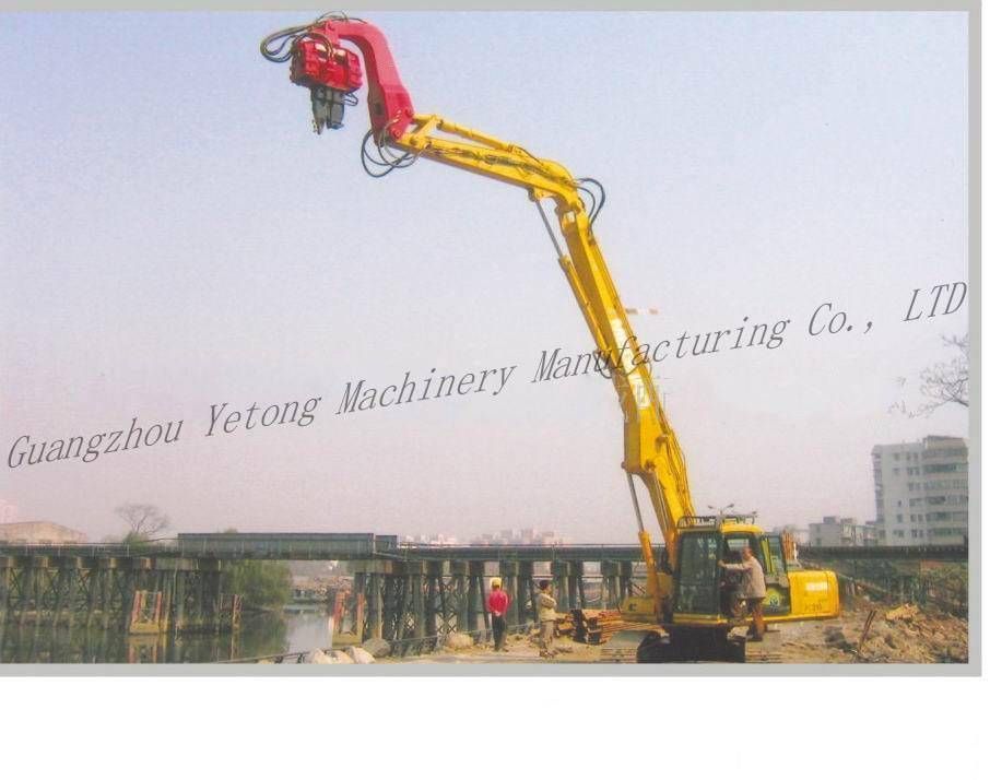Customized Hydraulic Pile Driving Equipment Construction Industry Attachment