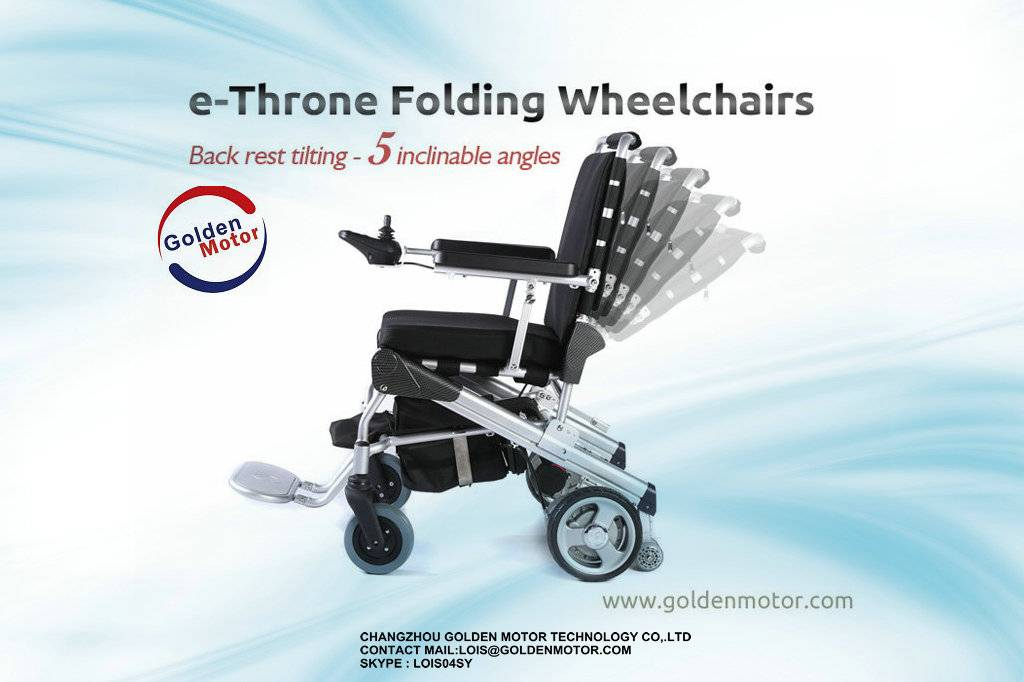 golden motor e-throne power wheelchair for handicapped