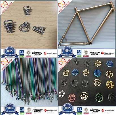 Titanium bike parts