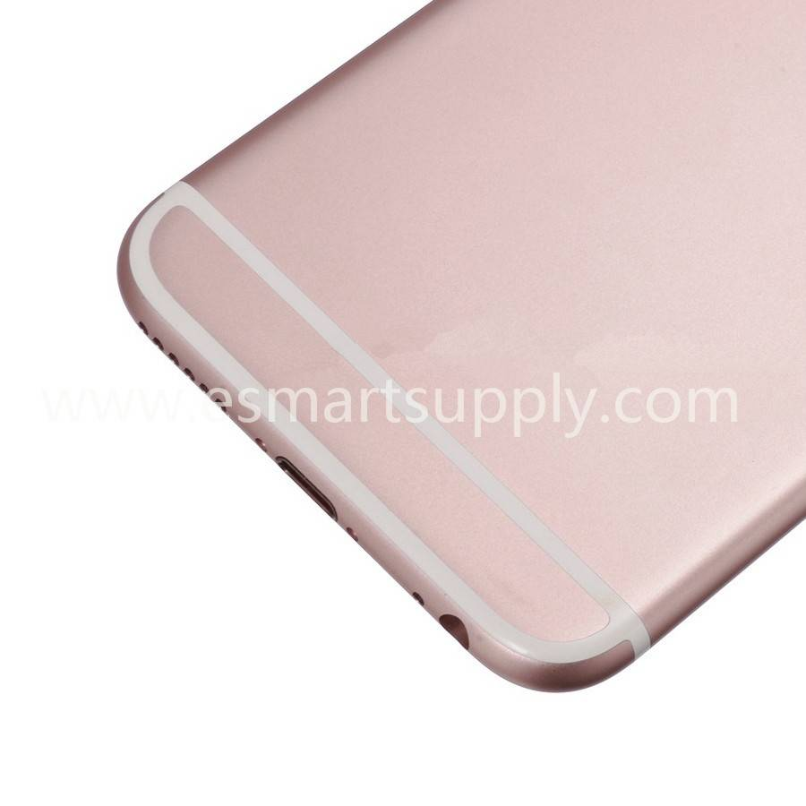 Replacement Part for Apple iPhone 6S Rear Housing with Apple Logo - Rose Gold - Without Words - S Gr