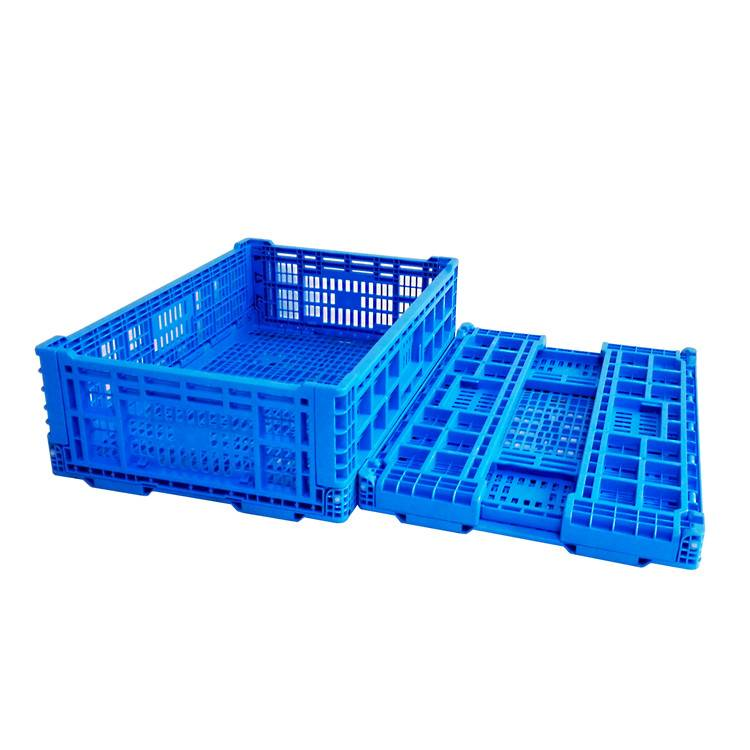 600*400*160mm plastic material mesh type crate for fruits