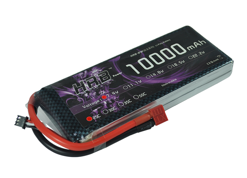 HRB Li-polymer Lipo Battery 2S 7.4V 10000mah 25C Max 50C For Helicopter RC Model Quadcopter Airplane