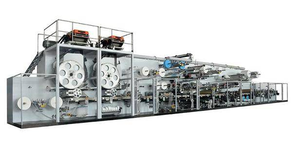 Disposable paper adult baby diaper machine production line manufacturing plant