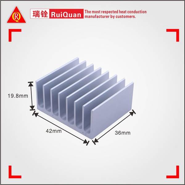 Aluminum profile extruded pin fin heat sink