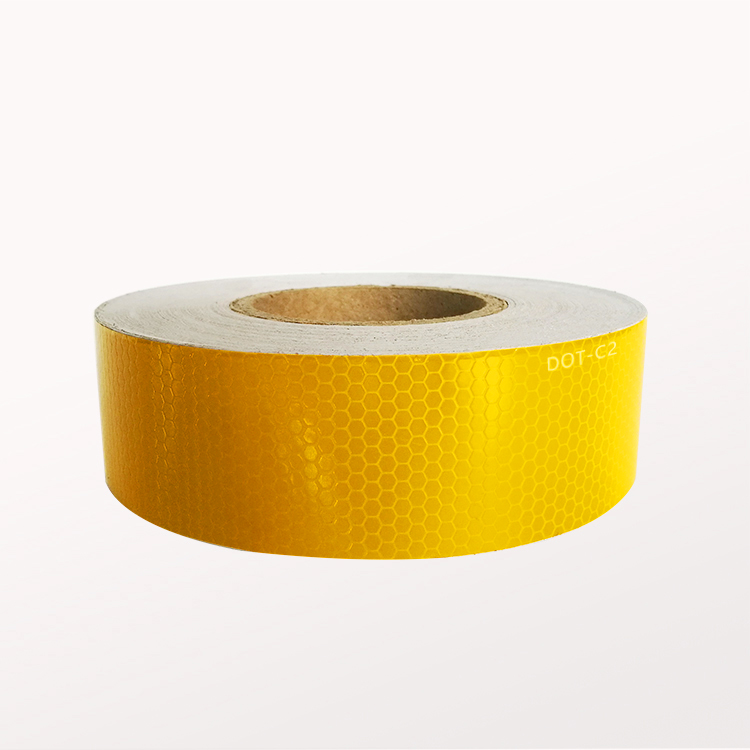 Self Adhesive Reflective Tape With Yellow Color for Roadway Traffic