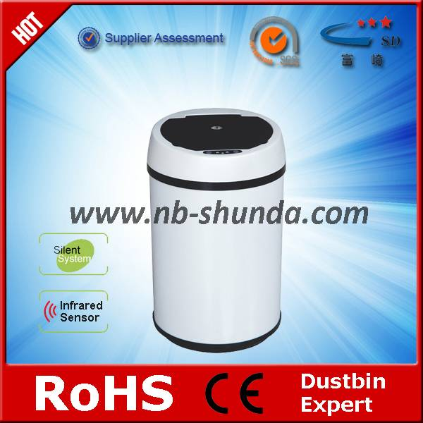 stainless steel bin with inner trash can  Colourful round trash can