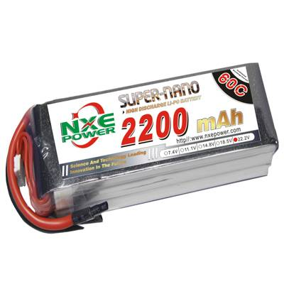 NXE2200mAh-60C-22.2V Softcase RC Helicopter Battery