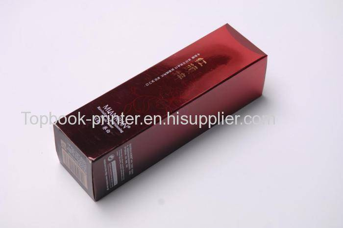 Excellent red gold cardboard UV coating gold-stamped whitening milk packaging box