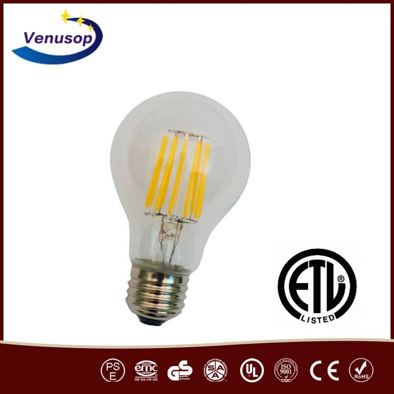 120V/ 230V, 6Watt Teardrop Clear Vintage Antique LED replacement bulb, E27 Edison screw base, B22 BC