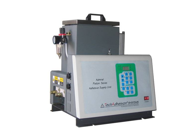 TechAdhesion hot melt machine (Admiral Piston ASU Series)