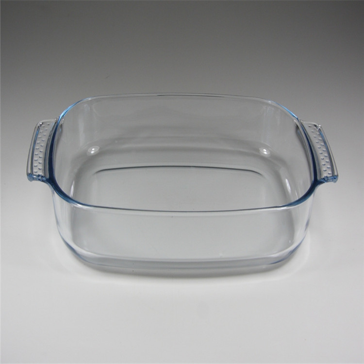 hot selling borosilicate glass baking dish with handle
