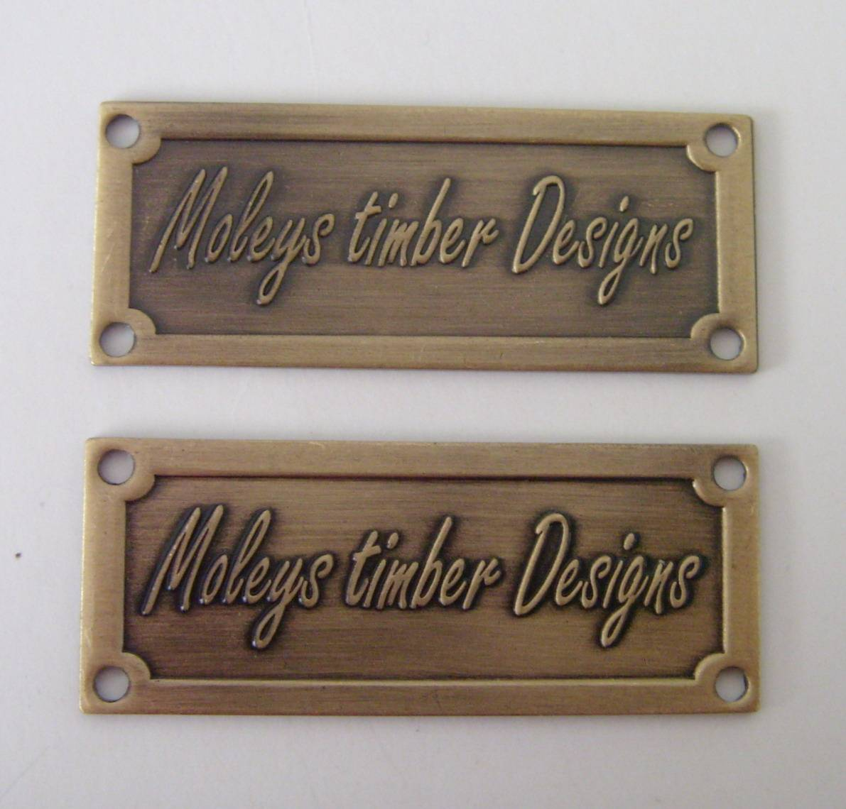 Furniture Label Metal Label Lihao Badge Crafts Factory